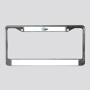 Pink Flamingo with Outstretche License Plate Frame