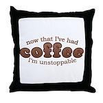 Fun Coffee Joke Throw Pillow