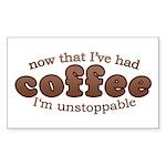Fun Coffee Joke Rectangle Sticker