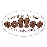 Fun Coffee Joke Oval Sticker