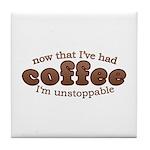 Fun Coffee Joke Tile Coaster