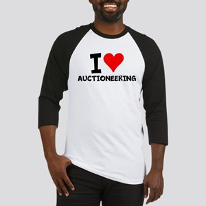 I Love Auctioneering Baseball Jersey