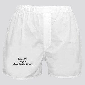 Adopt Black Russian Terrier Boxer Shorts