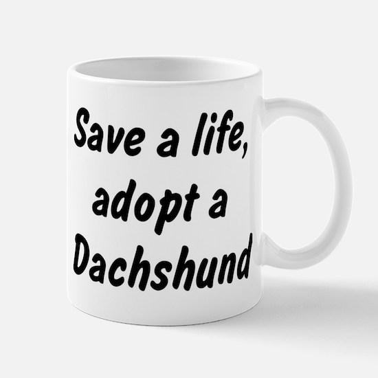 Adopt Dachshund Mug