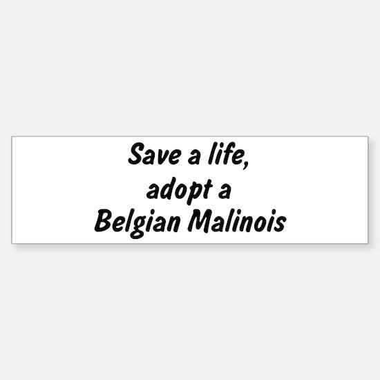 Adopt Belgian Malinois Bumper Bumper Bumper Sticker