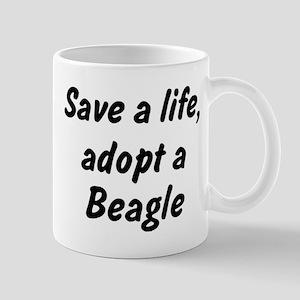 Adopt Beagle Mug