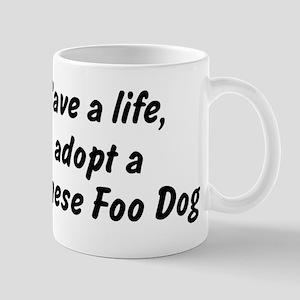 Adopt Chinese Foo Dog Mug