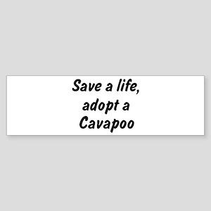 Adopt Cavapoo Bumper Sticker