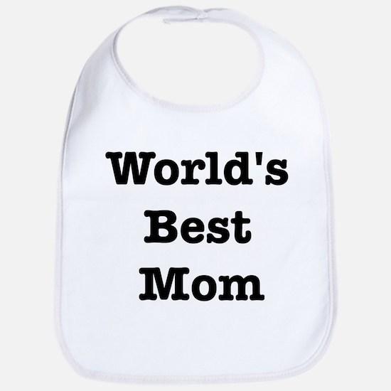 Worlds Best Mom Bib