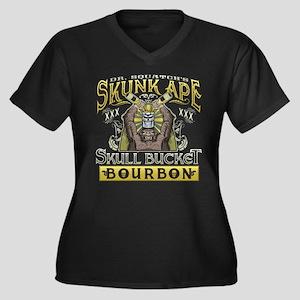 Skunk Ape Skull Bucket Bourbon Plus Size T-Shirt