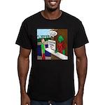 Fish Guy Lagoon Tours Men's Fitted T-Shirt (dark)