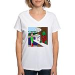Fish Guy Lagoon Tours Women's V-Neck T-Shirt