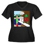 Fish Guy Lag Women's Plus Size V-Neck Dark T-Shirt