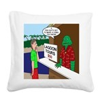 Fish Guy Lagoon Tours Square Canvas Pillow
