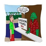 Fish Guy Lagoon Tours Woven Throw Pillow