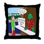Fish Guy Lagoon Tours Throw Pillow