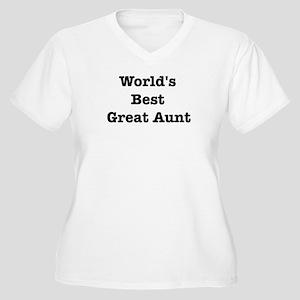 Worlds Best Great Aunt Women's Plus Size V-Neck T-