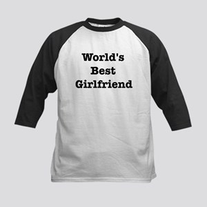 Worlds Best Girlfriend Kids Baseball Jersey