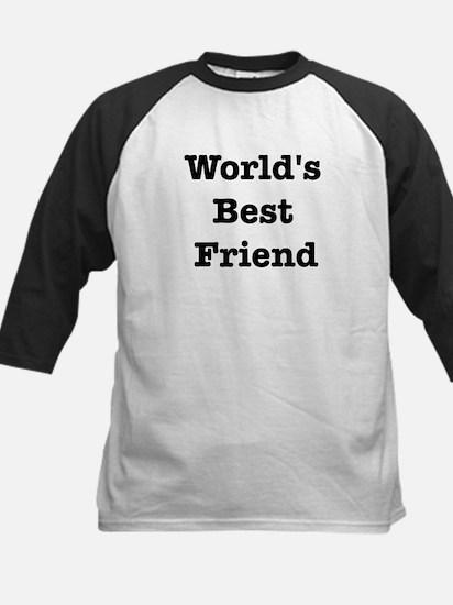 Worlds Best Friend Kids Baseball Jersey