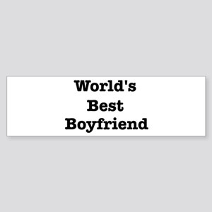 Worlds Best Boyfriend Bumper Sticker