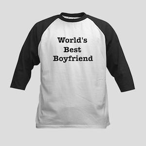 Worlds Best Boyfriend Kids Baseball Jersey