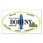 Doheny Surf Spots Rectangle Sticker