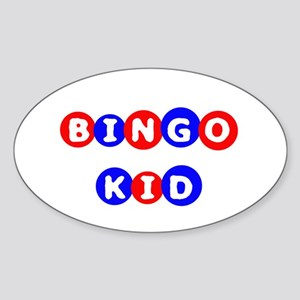 Bingo Kid Oval Sticker