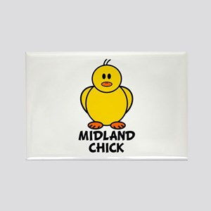 Midland Chick Rectangle Magnet