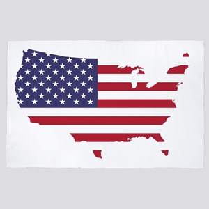 The United States of America and Flag 4' x 6' Rug
