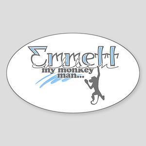 Emmett Monkey Man - Oval Sticker