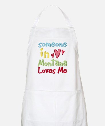 Someone in Montana Loves Me BBQ Apron