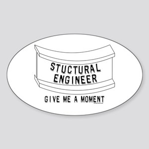 Stuctural Engineer Oval Sticker