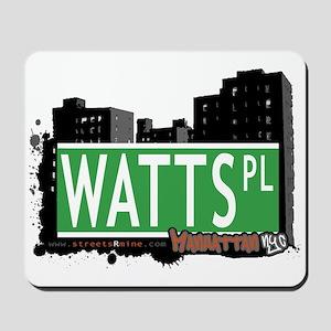 WATTS PLACE, MANHATTAN, NYC Mousepad