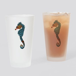 colorful Seahorse Drinking Glass