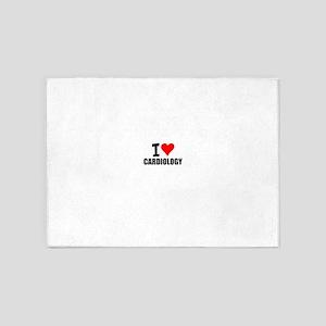I Love Cardiology 5'x7'Area Rug