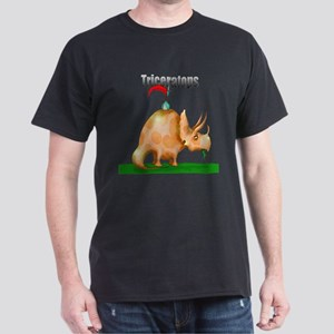 Triceratops (Orange) Dark T-Shirt
