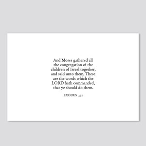 EXODUS  35:1 Postcards (Package of 8)