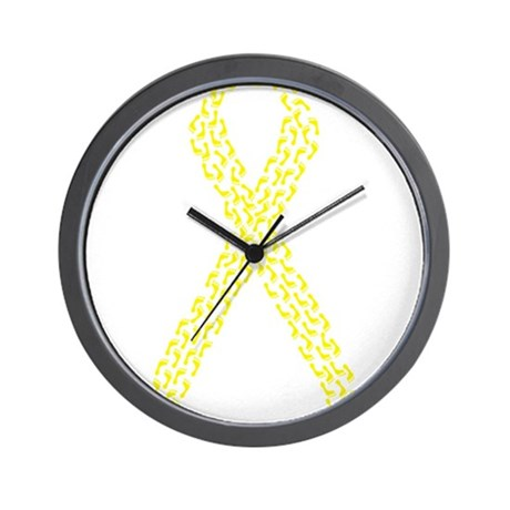 Yellow Footprints Wall Clock