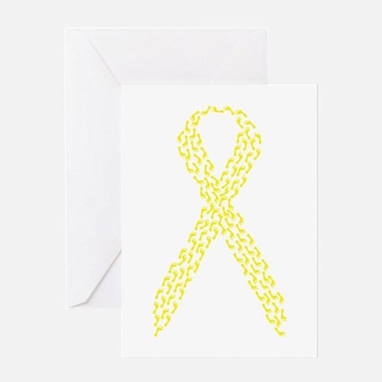 Yellow Footprints Greeting Card