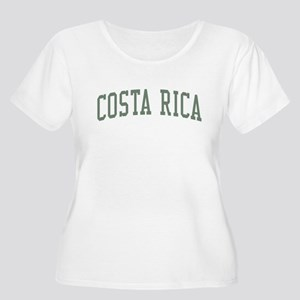 Costa Rica Green Women's Plus Size Scoop Neck T-Sh