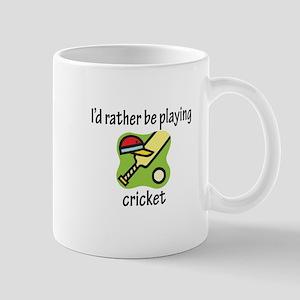 Playing Cricket Mug