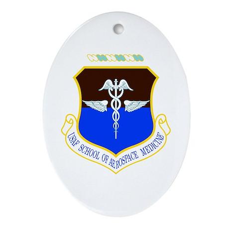 Aerospace Medicine Oval Ornament