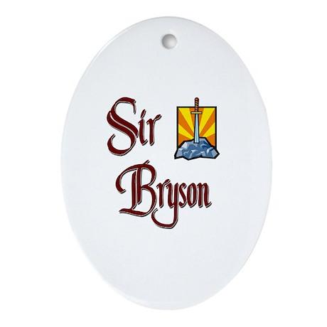 Sir Bryson Oval Ornament