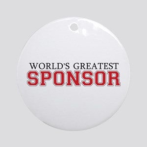 World's Greatest Sponsor Ornament (Round)