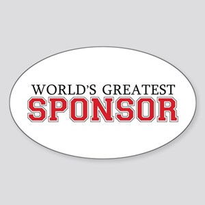World's Greatest Sponsor Oval Sticker
