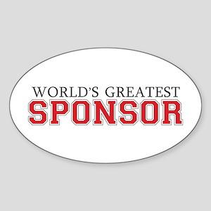 World's Greatest Sponsor Oval Sticker