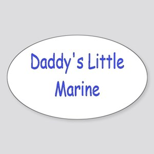 Daddy's Little Marine Oval Sticker