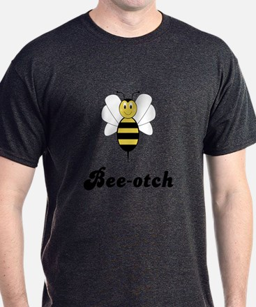 Smiling Bumble Bee Bee-otch T-Shirt