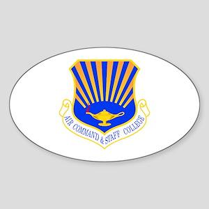 Command & Staff Oval Sticker
