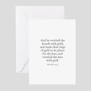 EXODUS  36:34 Greeting Cards (Pk of 10)